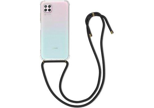 Huawei P40 Lite Hoesje Transparant met koord