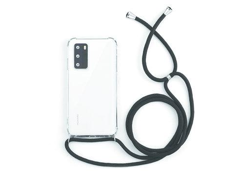Huawei P40 Hoesje Transparant met koord