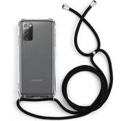 Colorfone Samsung Note 20 Hoesje Transparant met Koord