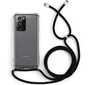 Colorfone Samsung Note 20 Ultra Hoesje Transparant met Koord