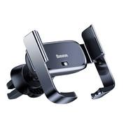 Baseus Luxe Auto Telefoonhouder Ventilatierooster - Zilver