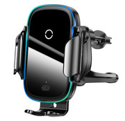 Baseus Phone Holder Car with Fast Charger - Black