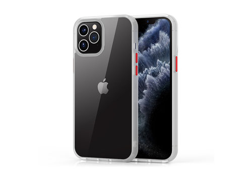 iPhone 12 Pro Max Hoesje Transparant Wit - Shark