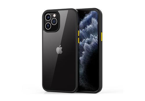 iPhone 12 Pro Max Hoesje Transparant Zwart - Shark
