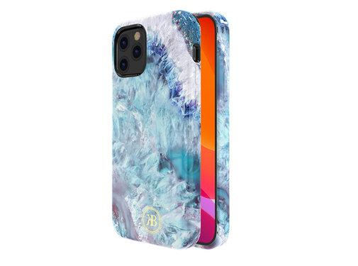Kingxbar iPhone 12 en 12 Pro Hoesje Blauw Kristal