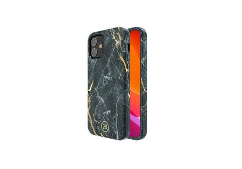 iPhone 12 Mini Hoesje Zwart Marmer