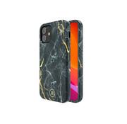 Kingxbar iPhone 12 en 12 Pro Hoesje Zwart Marmer
