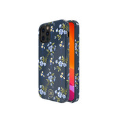 Kingxbar iPhone 12 Pro Max Case Blue Flowers with Swarovski Crystals