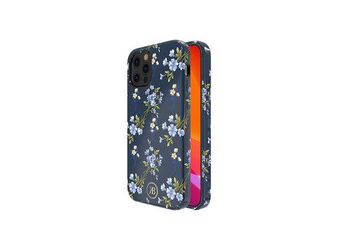 iPhone 12 Pro Max Hoesje Blauw Bloemenprint