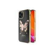 Kingxbar iPhone 12 / 12 Pro Hoesje Vlinder Goud met Swarovski Kristallen