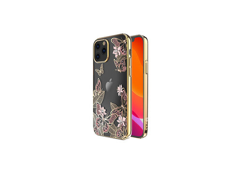 iPhone 12/12 Pro Hoesje Vlinder Roze