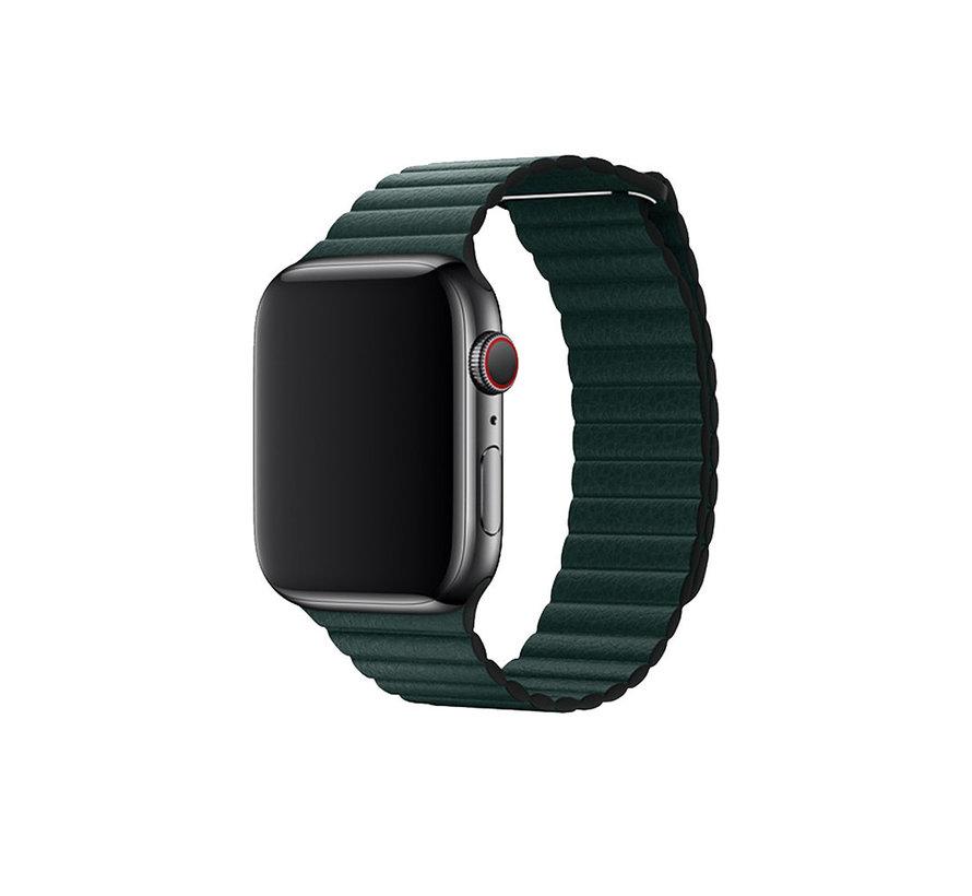 Geschikt voor Apple Watch 38/40MM Bandje Groen - Kunstleer