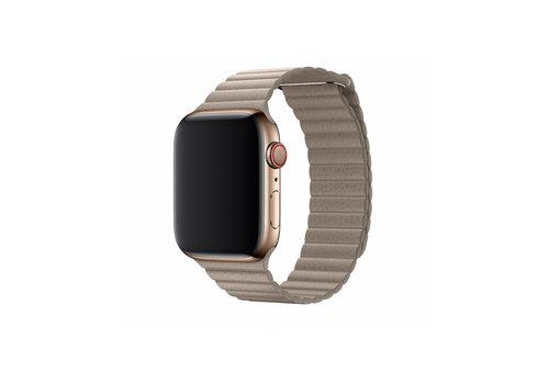 Apple Watch 42/44MM Bandje Beige - Leder