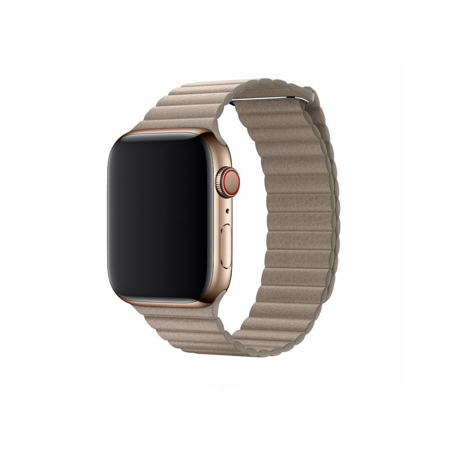 Apple Watch 42/44MM Band Beige - Leather