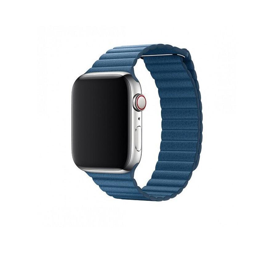 Geschikt voor Apple Watch 38/40MM Bandje Blauw - Kunstleder Loop