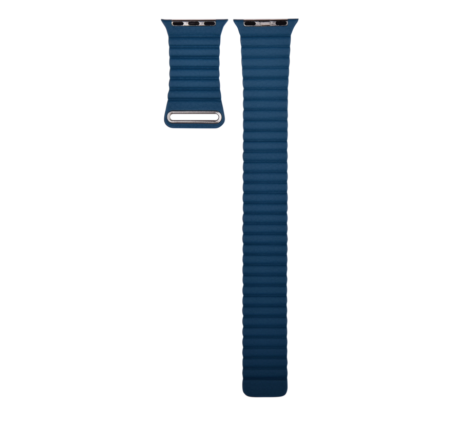 Apple Watch 38/40MM Bandje Blauw - Kunstleder Loop
