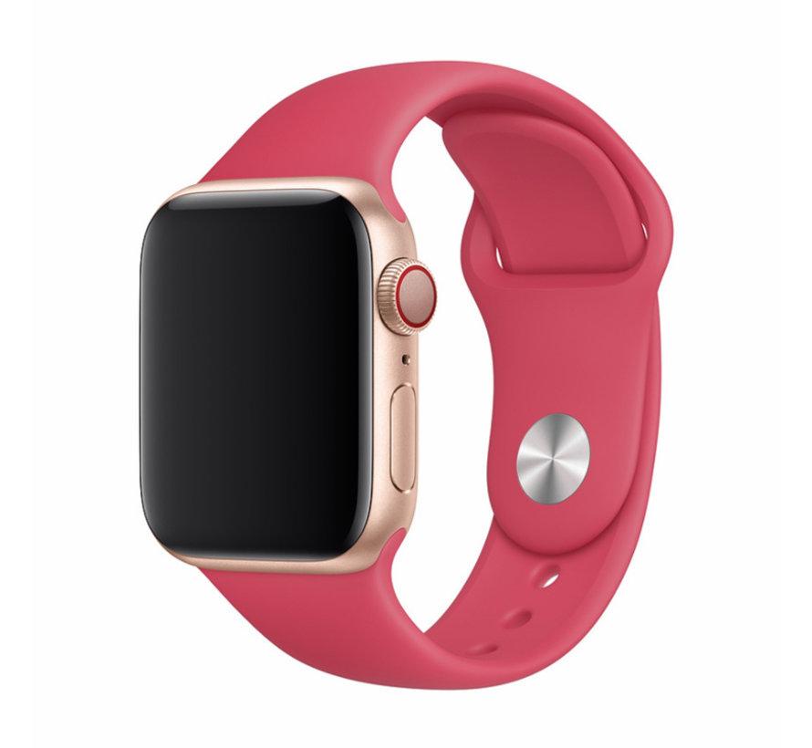 Geschikt voor Apple Watch 38/40MM Bandje Rood - Sport Strap - Comfortabel en sportief