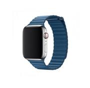 Devia Geschikt voor Apple Watch 42/44MM Bandje Blauw - Kunstleder Loop
