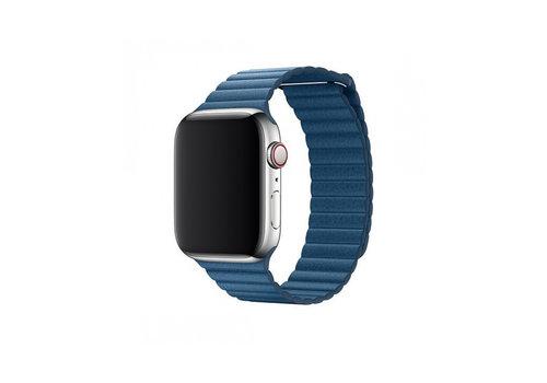 Apple Watch 42/44MM Bandje Blauw - Leren Loop
