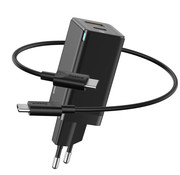 Baseus Fast charger USB C and USB combi - black