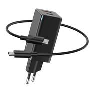 Baseus Snellader USB C en USB combi - zwart