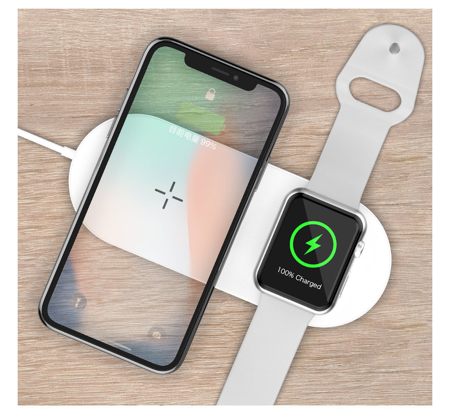 Draadloze Oplader voor iPhone en Apple watch