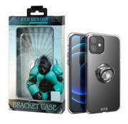 Atouchbo iPhone 12 Mini Hoesje Transparant met Ring en Magneet