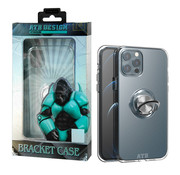 Atouchbo iPhone 12/12 Pro Case Transparent with Ring and Magnet
