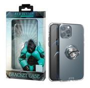 Atouchbo iPhone 12 en 12 Pro Hoesje Transparant met Ring en Magneet