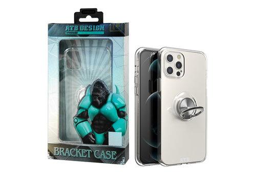 iPhone 12 Pro Max Hoesje Transparant met Ring en Magneet