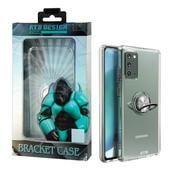 Atouchbo Samsung Note 20 Hoesje Transparant met Ring en Magneet