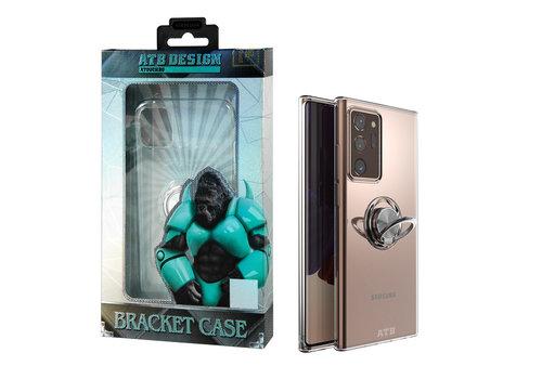 Samsung Note 20 Ultra Hoesje Transparant met Ring en Magneet