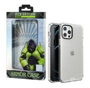 Atouchbo iPhone 12 Pro Max Hoesje Transparant - HoneyComb