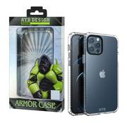 Atouchbo iPhone 12 en 12 Pro Hoesje Transparant - HoneyComb