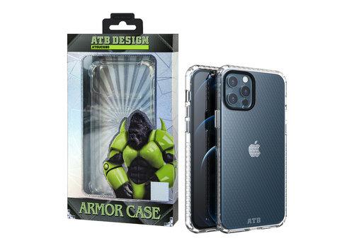 iPhone 12 en 12 Pro Hoesje Transparant - HoneyComb