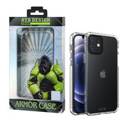Atouchbo iPhone 12 Mini Hoesje Transparant - HoneyComb