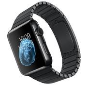 Devia Geschikt voor Apple Watch 38/40MM Metalen Schakel Bandje Zwart