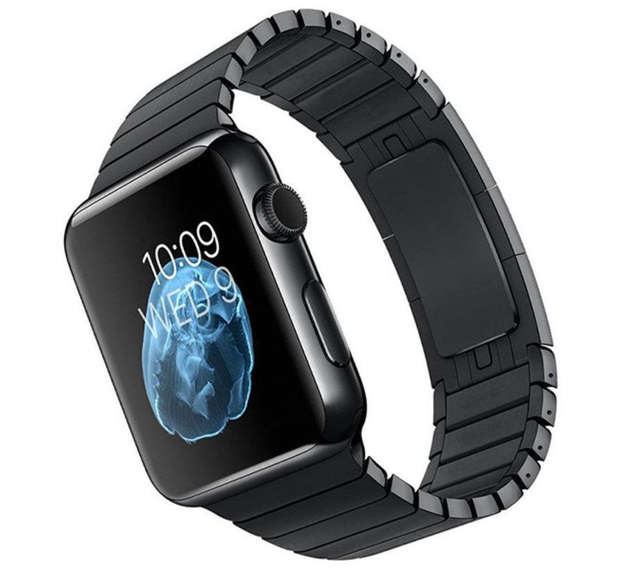 Geschikt voor Apple Watch 38/40MM Metalen Schakel Bandje Zwart