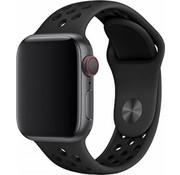 Devia Geschikt voor Apple Watch 38/40MM Bandje Zwart - Sport Deluxe