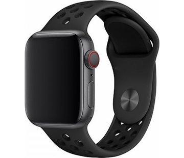 Devia Geschikt voor Apple Watch 42/44MM Bandje Zwart - Sport Deluxe