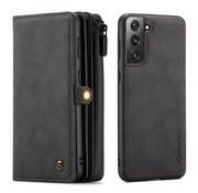 CaseMe Samsung S21 Plus Hoesje Zwart-  Multi Wallet