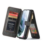 CaseMe Samsung S21 Plus Hoesje Zwart - Wallet