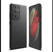 Merkloos Samsung S21 Plus Hoesje Zwart - Slim