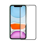 Colorfone iPhone 12 Mini Screenprotector Glas  2.5D Transparant Zwart