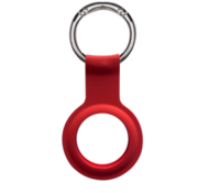 Devia Apple AirTag  silicone Keychain Red