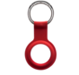 Apple AirTag  silicone Sleutelhanger Key Ring  Rood - Airtag Beschermhoesje - Apple Airtag hoes - Siliconen Airtag hoesje