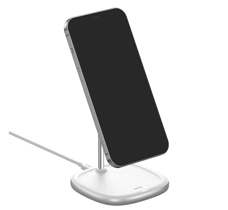Baseus Bureau Houder Draadloos Opladen 15W voor Apple MagSafe Wit