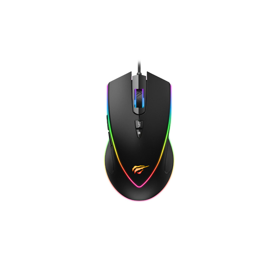 Havit MS1017 Gaming Mouse - 6400 DPI - Black with RGB Lighting