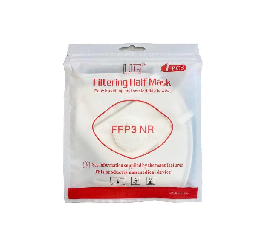 FFP3 Mondkapjes met ventiel 10 stuks  - 5 Laags Mondneusmasker - Europees Gecertificeerd - Headstrap - BFE 99% - Gesealed per stuk