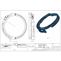 Rope guide DH1000 20MM Left